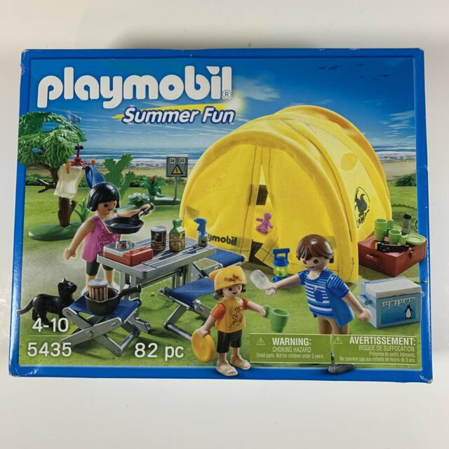 New PLAYMOBIL Summer Fun Family Camping Trip #5435 in Sealed Box - Free Ship!