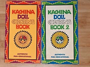 2 Vintage 70's Kachina Doll Books 1 & 2 Coloring Donna ...