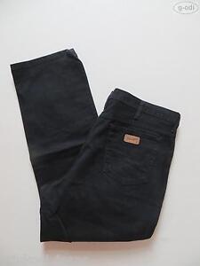 Wrangler-TEXAS-Jeans-Hose-W-42-L-30-schwarz-TOP-Oldschool-black-Denim-RAR