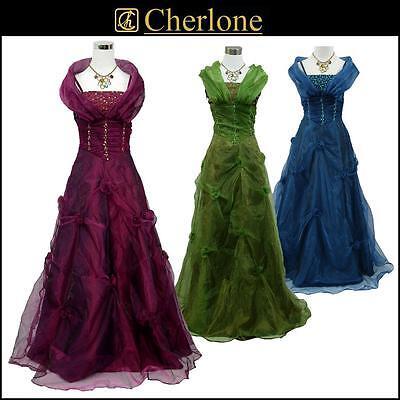 Cherlone Satin Hochzeit/Abend Ballkleid Brautkleid Abendkleid Brautjungfer Kleid
