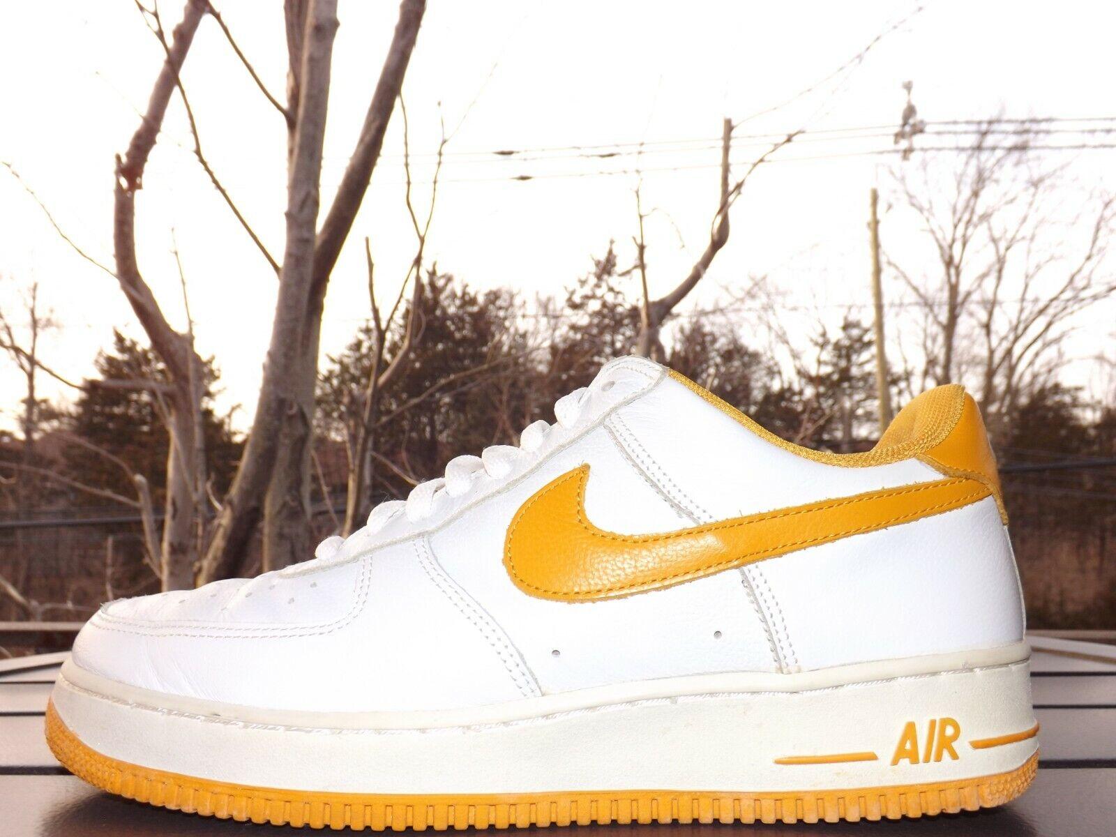 RARE Men's Nike Air Force 1 - White Canyon gold - Size 11.5