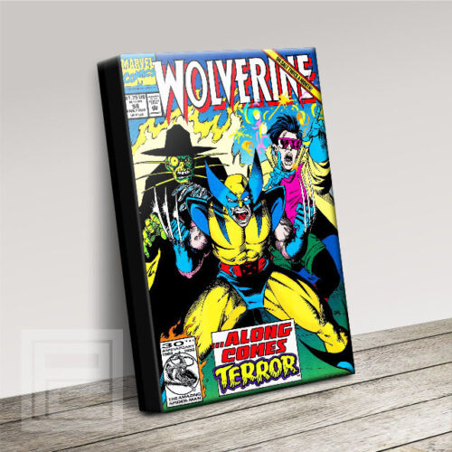 WOLVERINE COMIC COVERS SERIES HIGH QUALITY ICONIC CANVAS ART PRINT Art Williams