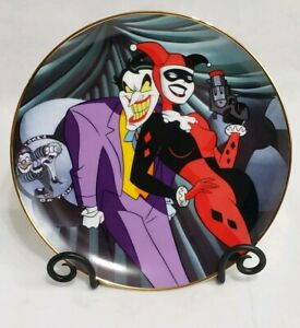 Warner-Bros-Joker-amp-Harley-Quinn-Collector-039-s-Plate-Limited-Edition-Batman