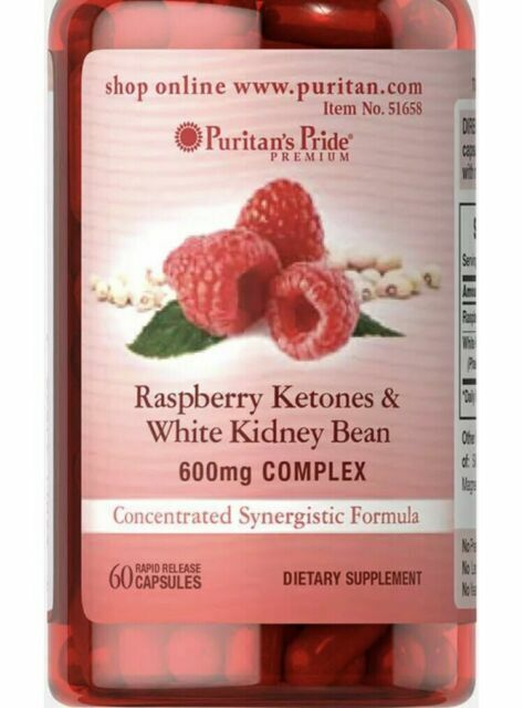 Puritan S Pride Raspberry Ketones And White Kidney Bean 600mg