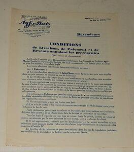Document-CONFIDENTIEL-Revendeurs-1932-AGFA-Photo-Importation-d-ALLEMAGNE