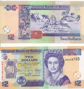 Belize-2-Dollar-2017-UNC-Pick-NEW