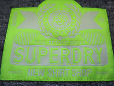 Superdry New Shirt Shop 100% Cotton Solid Light Blue London Button Down Medium