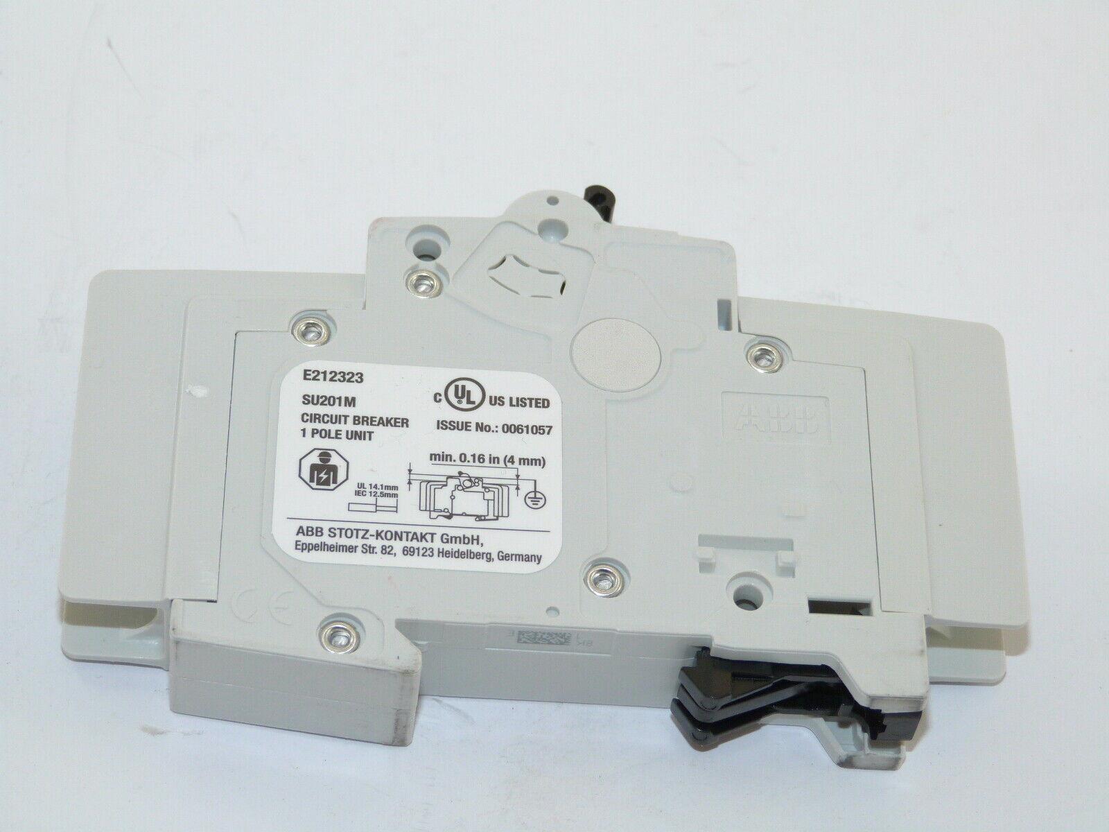 ABB SU201M-K1 1p 1a 277//480v Circuit Breaker NEW 1yr Warranty
