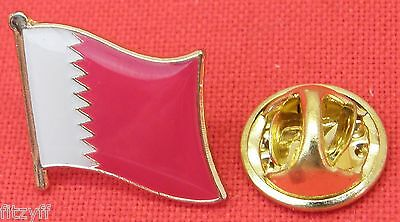 Qatar Country Flag Lapel Hat Cap Tie Pin Badge Brooch Dawlat Qaṭar دولة قطر
