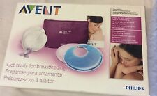 PHILIPS AVENT BREAST CARE ESSENTIALS SET THERMOGEL BREAST PAD POUCH New
