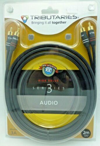 Tributaries Series 3 RCA Audio Interconnect Cables 2 meter pair