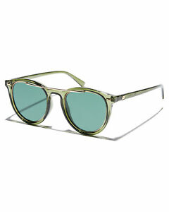 Le-Specs-Men-039-s-Fire-Starter-Claw-Sunglasses-Stainless-Steel-Glass-Green