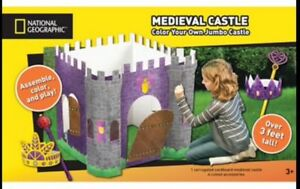 NIB National Geographic Color Your Own Cardboard Medieval Castle ...