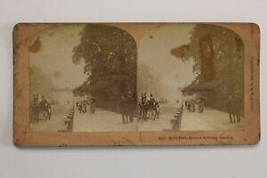 COMPLEANNO Da La Regina Londra Hyde Park UK Foto Stereo N Vintage Albumina