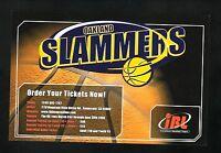 2006 Oakland Slammers Postcard Schedule