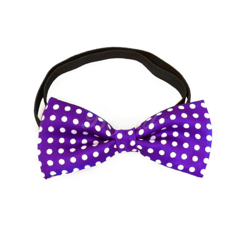 USA Purple Polka Dots Suspender and Bow Tie Set for Baby Toddler Kids Girls