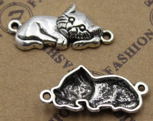 20//50pcs Retro style cat  Charm Pendant DIY Jewellery crafts 26x11mm