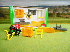 SIKU FARM 1/32 2017 TRACTOR LOADER ATTACHMENTS SET 3661 BOXED & NEW