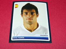 N°26 RAUL ALBIOL VALENCIA CF UEFA PANINI FOOTBALL CHAMPIONS LEAGUE 2006 2007