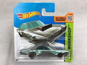 Hot-Wheels-Hw-taller-68-Dodge-Dart-211-250-Plata-Azul-Tarjeta-Corta-automovil-de-fundicion