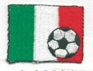 Soccer Ball Calcio Football Italy Italia Flag Bandiera Embroidery  Patch