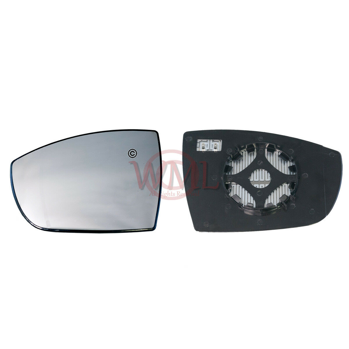 FORD FIESTA 2009-/>2017 DOOR MIRROR GLASS SILVER CONVEX HEATED /& BASE,RIGHT SIDE