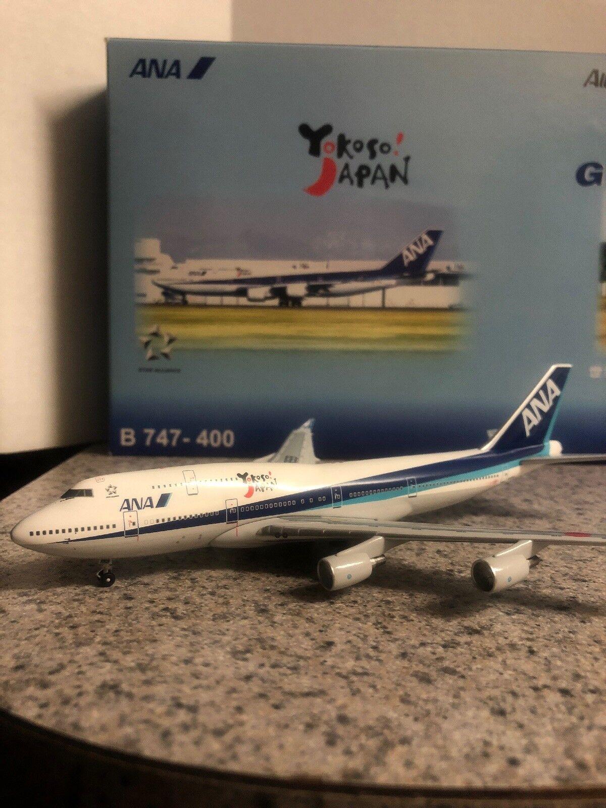 Aviation 400 diecast model ANA two B747-4's Commercial Airliner JA8959/ JA8962