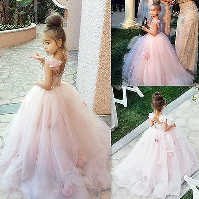 NEW Girl/'s Communion Party Prom Princess Pageant Bridesmaid Wedding Flower Dress