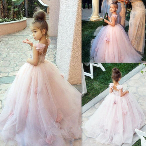 NEW Communion Party Prom Princess Pageant Bridesmaid Wedding Flower Girl Dress A