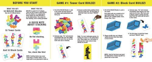 BUILDZI Fast Stacking Block Building Game Carma makers TENZI SLAPZI Family