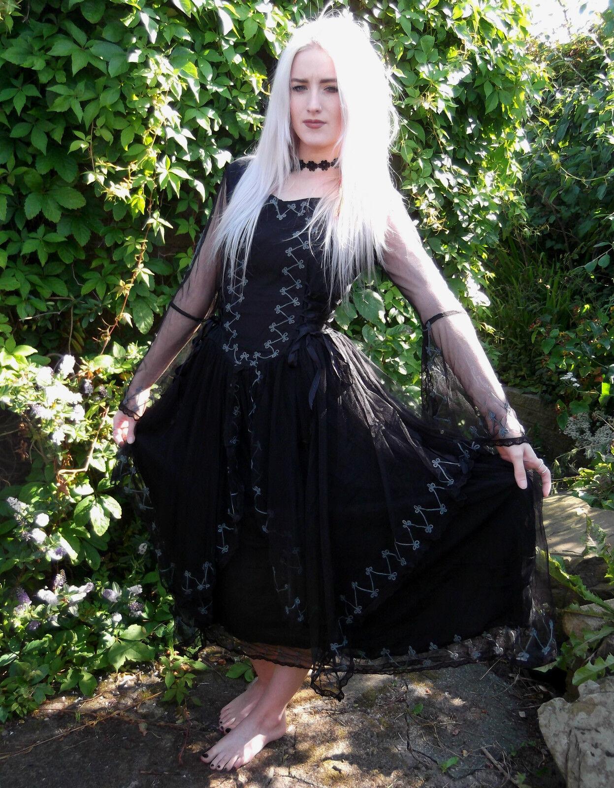 Dark Star Jordash Tie-Dye Tie-Dye Tie-Dye Bodice Dress Fairy Medieval Pagan Festival S M L-XL 34ade8