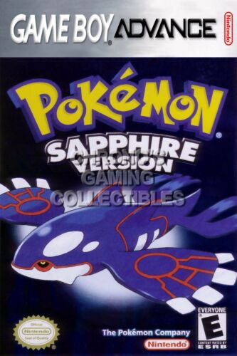 Pokemon Sapphire Version Nintend Game Boy Advance GBA GBA071 RGC Huge Poster