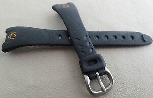 SMALL LADIES Timex Ironman Triathlon 14mm Black Sport Watch Band Orange Logo