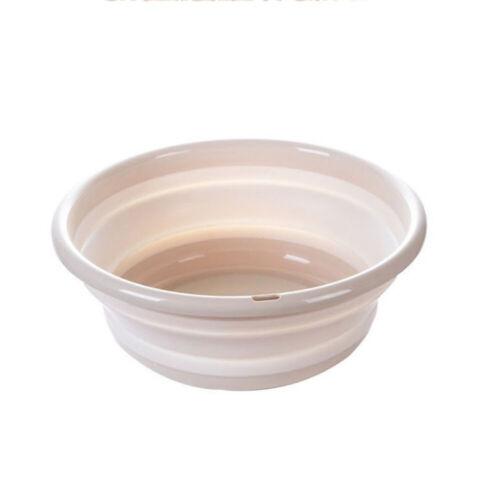 Plastic Portable Camping Folding Wash Basin Collapsible Bucket// Dish Tub