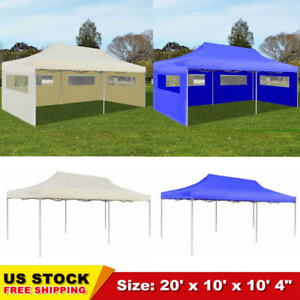 10-039-x20-039-Pop-Up-Gazebo-Marquee-Outdoor-Garden-Party-Tent-Canopy-4-Clear-windows