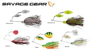 Savage-Gear-da-039-bush-spinnerbait-peche-leurre-Predator-32-42-G-couleurs-diverses