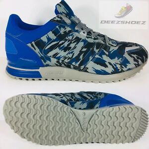 d7ff6b11c Adidas ZX 700 Camouflage Blue Black Gray Mens B24838 Size - 11.5
