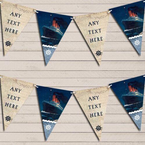 Vintage Nautical Map Mer Bateau Titanic personnalisé anniversaire Bruant