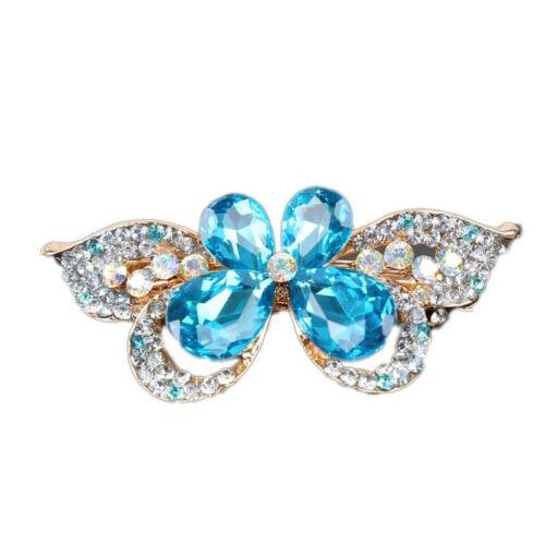 Charm Style Rhinestone Barrette Butterfly Hair Pins Hair Clip Hair Accessory CA