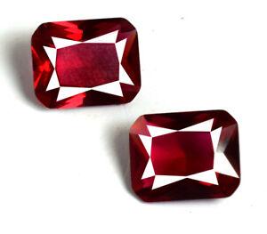 Natural-5-85-Ct-Burma-Ruby-Emerald-Cut-Gemstone-Matching-Pair-AGSL-Certified
