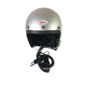 Vintage-1975-Bell-Magnum-II-Silver-Motorcycle-Helmet-Snell-Size-7-1-2