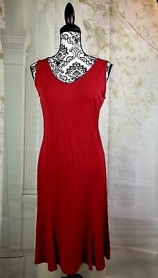 Ann Taylor Loft Womens Stretch Knit Sleeveless Fit Amp Flare