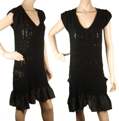Cb520 avec Glamorous sequins Conmigo et pull et Robe angora soie noir q4ddwa