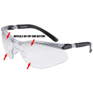Details About 3m Bx Dual Reader Safety Glasses With Clear Anti Fog Lens