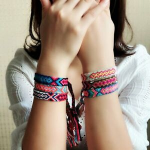 Boho-Ethnic-Handmade-Multicolor-String-Cord-Woven-Braided-Friendship-Bracelet