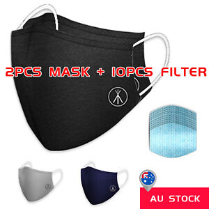 Au Stock Face Mask Filters Adjustable Anti Air Pollution P2 Washable Ebay