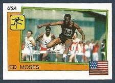 PANINI SUPERSPORT 1988/89- #017-ATHLETICS-UNITED STATES-400M HURDLES-ED MOSES