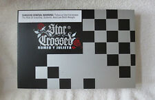 ROMEO Y JULIETA STAR CROSSED EMBRACE WOOD CIGAR BOX BLACK & SILVER- BEAUTIFUL!!!
