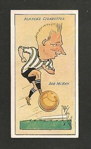 NEWCASTLE-UNITED-FC-BOBBY-McKAY-Sunderland-FC-Bristol-City-1927-caricature-card