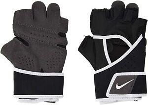 NIKE Women Premium Heavyweight Fitness Training Gloves Black White - Medium New